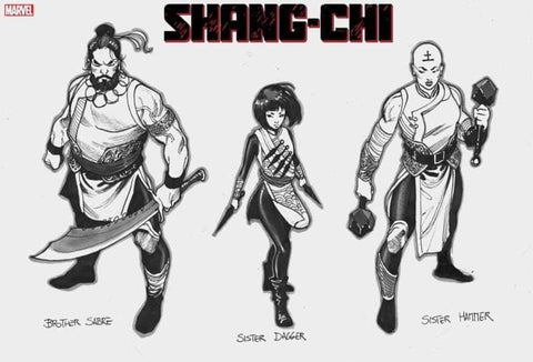Dike Ruan Original Art Shang-Chi #1 2nd Print Cover & Concept Art