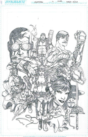 Sergio Davila Original Art Dynamite Legenderry #7 Cover