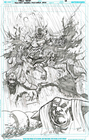 Sergio Davila Original Art Dark Multiverse: Batman: Hush #1 Splash Page 48 + 46 & 47 Included