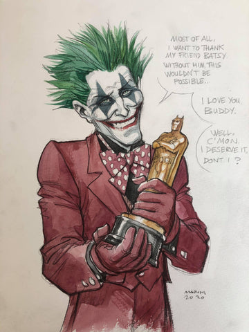 Enrico Marini Original Art Joker Wins Illustration