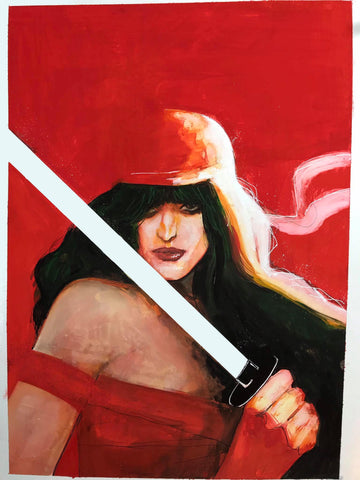 Helena Masellis Original Art Elektra Illustration
