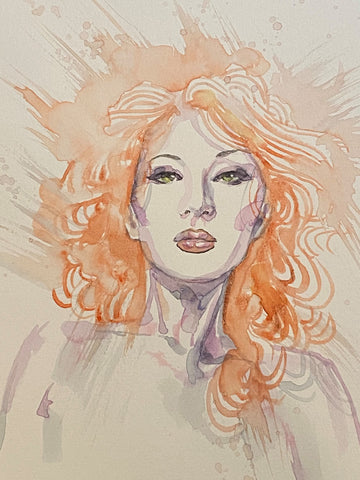 David Mack Original Art Deep Beyond #1 Cover (Includes Two Pieces)