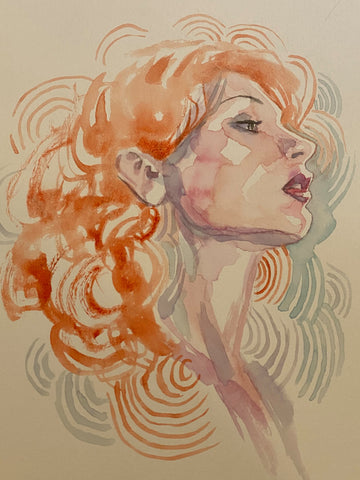 David Mack Original Art Deep Beyond #1 Cover Study