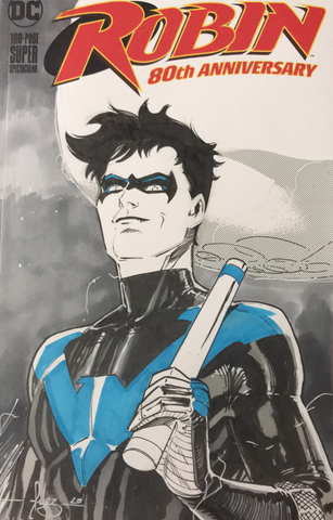 Javier Fernandez Original Art Nightwing Blank Cover Illustration
