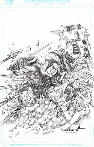 Sergio Davila Original Art Black Knight #3 Cover