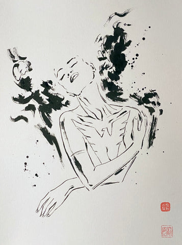 David Mack Original Art Phoenix Brush & Ink Collection 3