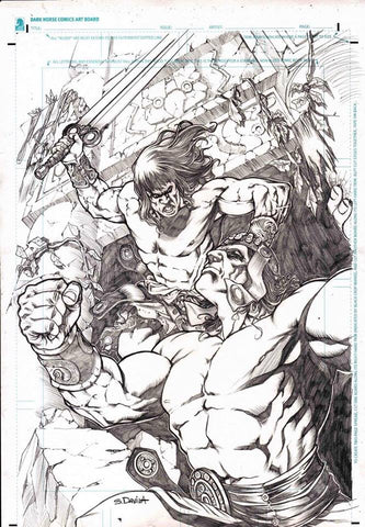 Sergio Davila Original Art Conan Slayer #10 Cover