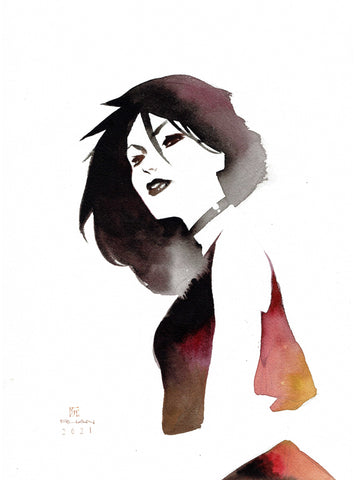Dike Ruan Original Art Death Sandman Collection