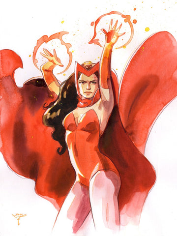 Clara Tessier Original Art Scarlet Witch Illustration