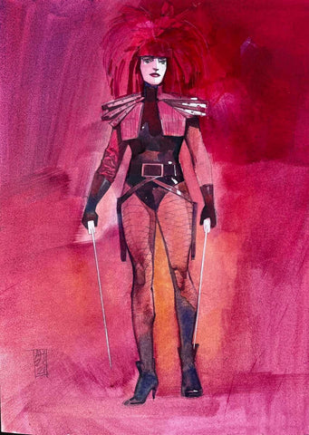 Alex Maleev Original Art Typhoid Mary Illustration