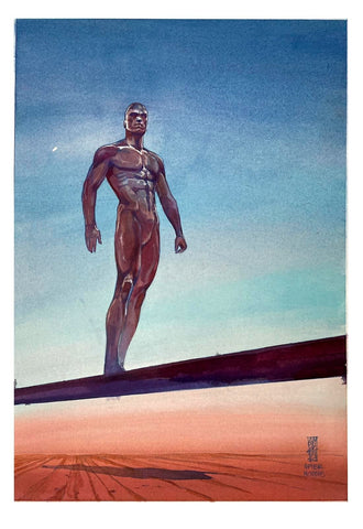 Alex Maleev Original Art Silver Surfer After Moebius Illustration