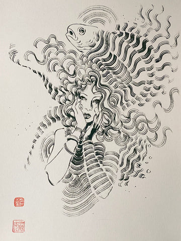 David Mack Original Art Delirium Brush & Ink Collection 3