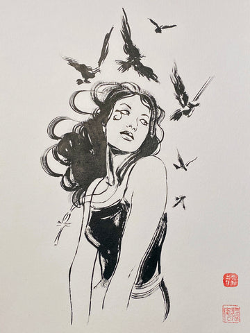 David Mack Original Art Death 1 Brush & Ink Collection 3