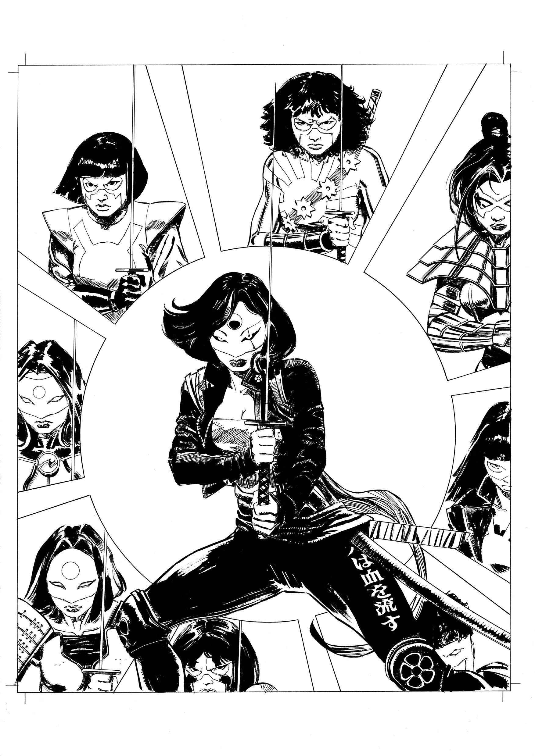 Andrea Cucchi Original Art Other History of DC #3 Katana Page 1