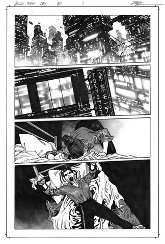 Dike Ruan Original Art Bleed Them Dry #2 Page 1