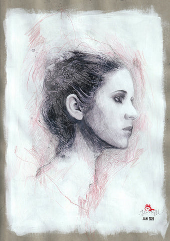 Zu Orzu Original Art Princess Leia Illustration