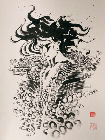 David Mack Original Art Sandman Brush & Ink Collection 3