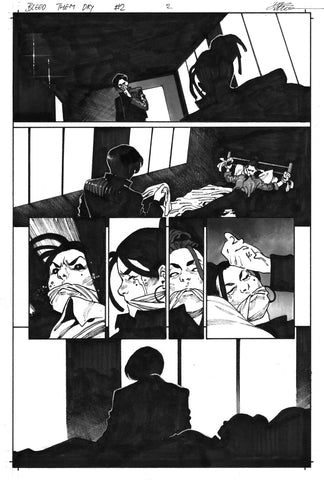 Dike Ruan Original Art Bleed Them Dry #2 Page 2