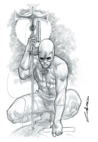 Emilio Laiso Original Art Daredevil A3 Sketch