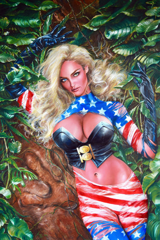 Fred Ian Original Art Patriotika United #1 Cover Canvas Oil Painting