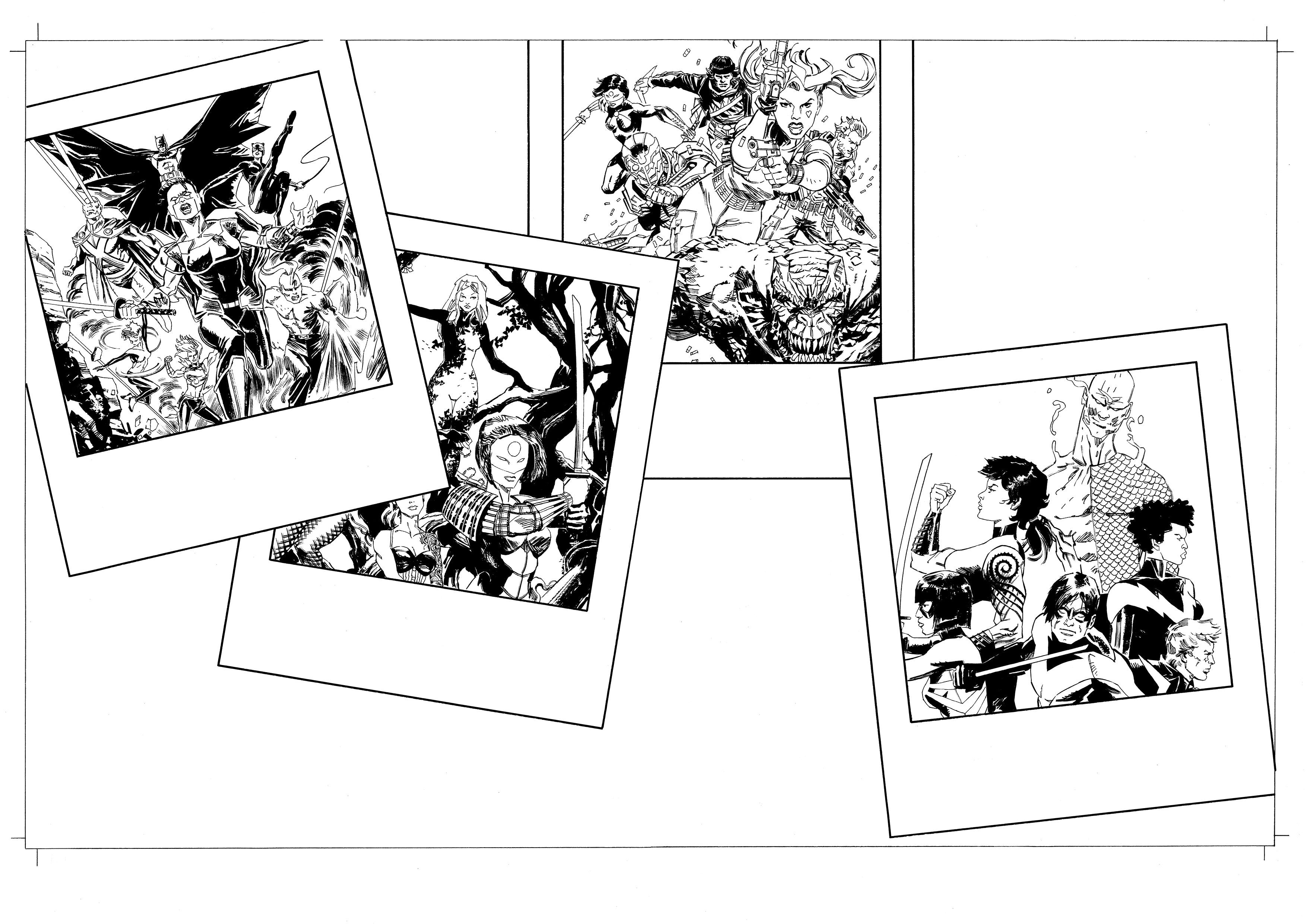 Andrea Cucchi Original Art Other History of DC #3 Page 44-45 Double Page Spread