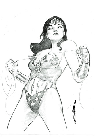 Emilio Laiso Original Art Wonder Woman Pencil Illustration