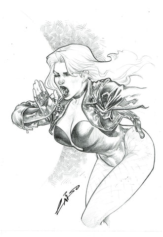 Emilio Laiso Original Art Black Canary Pencil Illustration