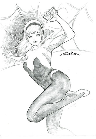 Emilio Laiso Original Art Spider-Gwen Pencil Illustration