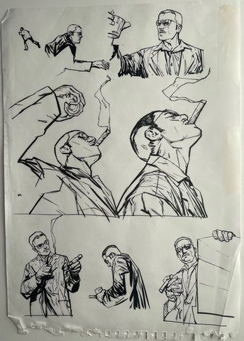 Alex Maleev Original Art Page From Bendis & Maleev's Daredevil Run (Reference 4)