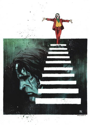 Dike Ruan Original Art Joker Movie Painted Illustration