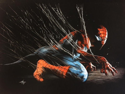 SIGNED Back in Black Spider-Man Lithograph by Gabriele Dell'Otto