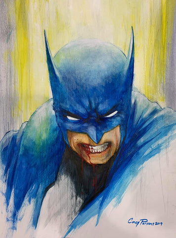 Casey Parsons Original Art Batman Illustration