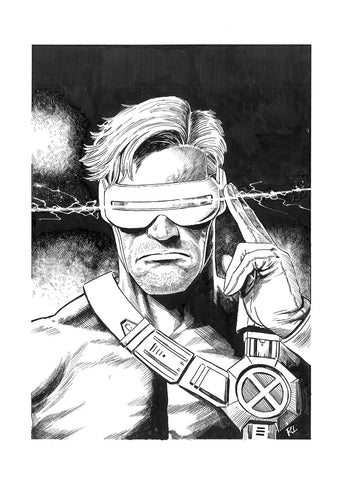 Riccardo Latina Original Art Cyclops Illustration