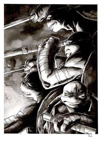 Guillaume Martinez Original Art Teenage Mutant Ninja Turtles Illustration