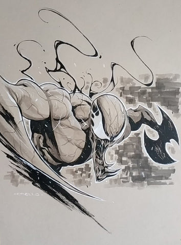Iban Coello Original Art Carnage B&W Illustration