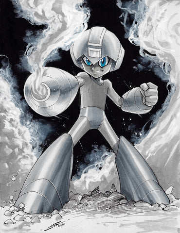 Gerardo Sandoval Original Art Megaman Fan Art Challenge Illustration