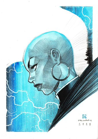 Dike Ruan Original Art *New Collection* Storm Illustration