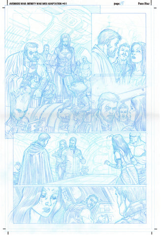 Paco Diaz Original Art Avengers Prologue #1 P15