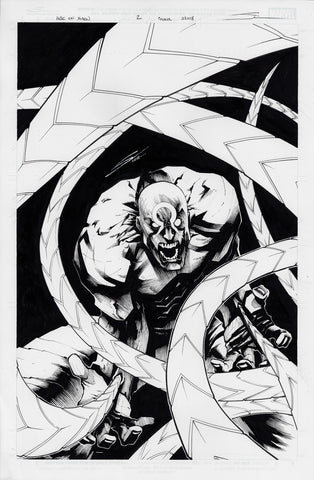 Gerardo Sandoval Original Art Age of X-Man Apocalypse and X-Tracts #2 Cover