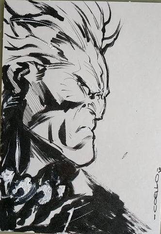 Iban Coello Original Art Akuma Illustration