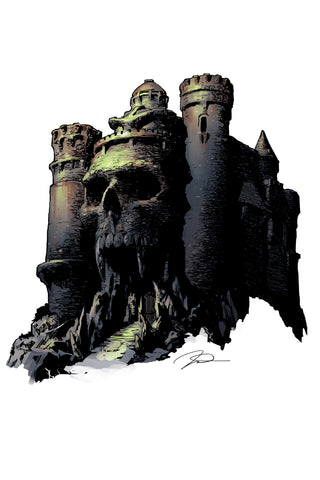 "Gerald Parel Alcala Tribute Castle Grayskull 12x18"" Limited Edition Giclee"