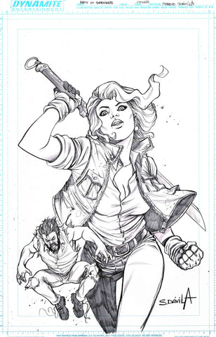 Sergio Davila Original Art Army of Darkness #3 Cover