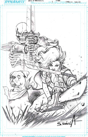Sergio Davila Original Art Army of Darkness #2 Cover