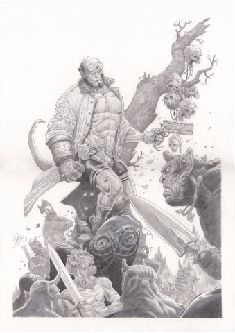 Paco Diaz Original Art Hellboy Illustration