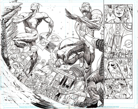 Guillem March Original Art Batman #64 Page 8-9