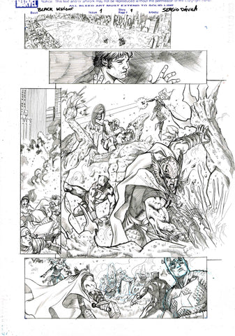 Sergio Davila Original Art Black Knight #1 Page 1