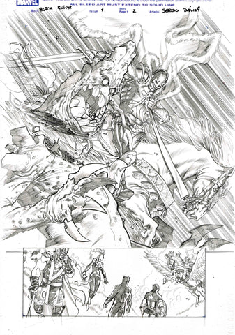 Sergio Davila Original Art Black Knight #1 Page 2