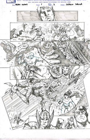 Sergio Davila Original Art Black Knight #1 Page 3