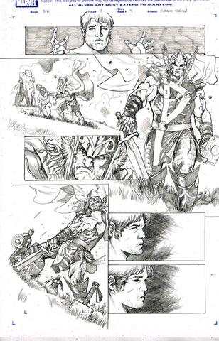 Sergio Davila Original Art Black Knight #1 Page 4