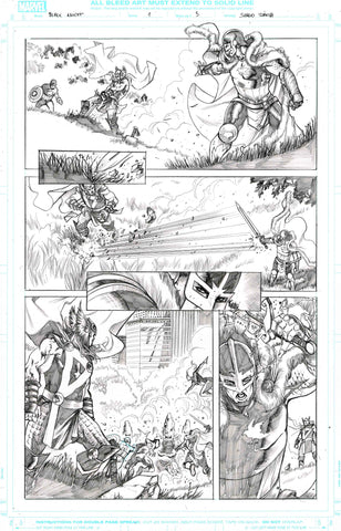 Sergio Davila Original Art Black Knight #1 Page 5